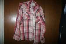WOMEN WESTERN RIDING EQUESTRIAN SHIRT  PEARL SNAP CUMBERLAND OUTFITTERS 1X PLAID