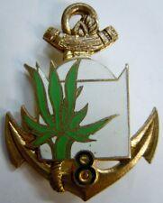 8° RIC Régiment Infanterie Coloniale insigne Drago G 1380 ORIGINAL émail