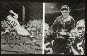Raymond Berry signed 5.5x3.5 Photo Football HOF