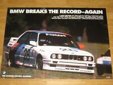 BMW M3 E30 EVO USA Poster 31 - Breaks Record Again / Original Vintage in MINT