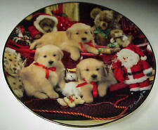 "Lab Pups Christmas Cheer Royal Doulton Franklin Mint 8"" Collector Plate D-905"