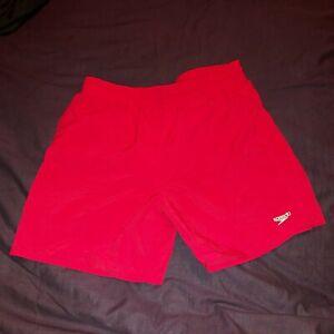 Boys Speedo Red Swim Shorts Size XL Age 12-13