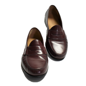 Cole Haan Mens 10.5 Penny Loafers Shoes Cordovan Leather Slip On NEW