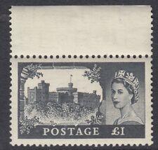 GB : 1955 £ 1 black WATERLOW SG 539 MNH  margin stamp