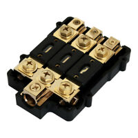 GOLD ANL FUSED DISTRIBUTION BLOCK 0/2 IN THREE 2/4 GAUGE AWG OUT CAR MARINE USA