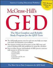GED McGraw-Hill GED OFFICIAL STUDY GUIDE    PROGRAM WORKBOOK   FREE SHIPPING !