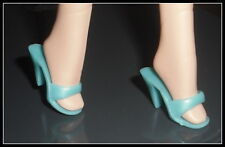 Shoes Barbie Doll Mattel Between Takes Mules Turquoise High Heel Shoe Accessory