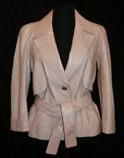 CHANEL ~ Leather Nude-Pink Jacket / Blazer 06P ~ size: M/L ; Fr: 40 * AUTHENTIC
