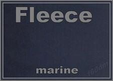 1 m !! lang Fleece Stoff marine - 150 cm breit NEU innen glatt blau USA new TOP