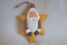 Early Eddie Walker Santa Claus Star Ornament-Rare Find!!