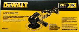 "Dewalt DCM849B Cordless 20 volt XR 7"" Variable Speed Polisher New in Box"