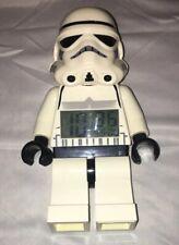LEGO Star Wars Storm Trooper Digital Alarm Clock Minifigure Moveable 2013 Toy