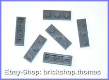 Lego 6 x Platte 1x3 Platten grau - 3623 - Dark Bluish GrayPlates - NEU / NEW