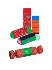 HAPPY SOCKS 87419PP22 4300 Multicolor holiday cracker holly gift box Calzini Uni