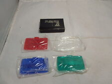 Wide Angle 65 x 38mm Clear Adaptor & 3 Colour Filters ~ Blue Green Red
