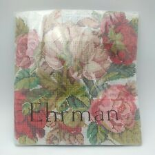 EHRMAN 'BLOOMING ROSES BLUE' by David Merry TAPESTRY NEEDLEPOINT KIT
