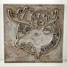 Loyal Order Of Moose Printers Watermark Metal Die Block 1949