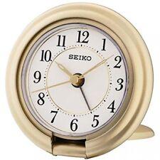Seiko Qht014g Unisex Réveil de Voyage en Plastique Blanc