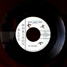 VENTURES WALK DON'T RUN / HOME 1ST INDIE LABEL BLUE HORIZON 1960 VG++ RARE SURF