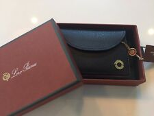 590$ Loro Piana Black Leather set of cards Made in Italy