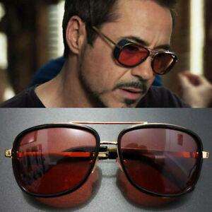 Tony Stark Iron Man Sunglasses Men Luxury Brand Eyewears Mirror Punk Sun Glasses