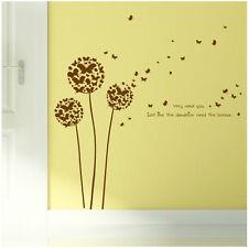 Wandtattoo Schmetterlinge Pusteblume braun Blume Tiere Pflanze Aufkleber Sticker