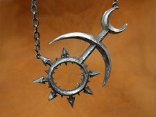 Warhammer 40K 925 Sterling Silver Chaos Slaanesh Necklace Pendant