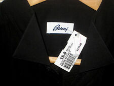 BRIONI ITALY TEXTURED COTTON BLACK ON BLACK FRENCH CUFF TUXEDO SHIRT-NWT-15.5