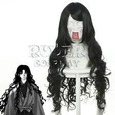 90cm X Long Anime Inuyasha Naraku Black Wavy Cosplay wig COS-037L