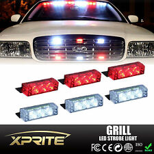18 LED Emergency Car Vehicle Flash Strobe Light Dash Front Grille White & Red