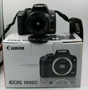 Macchina fotografica Fotocamera Canon EOS 1000d reflex digitale + obiettivo