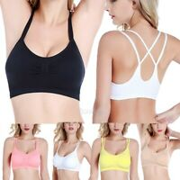 Women Seamless Sports Bra Wireless Yoga Crop Top Vest Comfort Stretch Shapewear