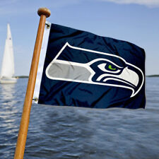 Seattle Seahawks Small Mini Boat and Cart Flag
