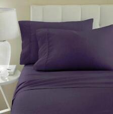 * ienjoy Purple Checkered 4-Piece Sheet Set Queen Hypoallergenic Antimicrobial