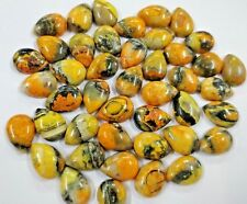 Natural Bumble Bee Jasper Calibrated Cabochon Gemstone 44 Pcs. Wholesale Sale AA