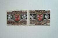 Notgeld Stadt Lübbecke in Westfalen 25 Pfennig, 50 Pfennig 1921   (056)