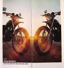 1975 1976 Harley Davidson Brochure SXT-125 SX-175 SX-250 SS-250, Original 75 76