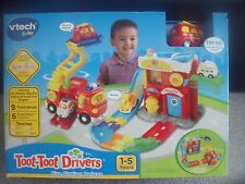 BNIB VTech Baby - Toot Toot Drivers - Fire Station Deluxe - Includes 2 Engines