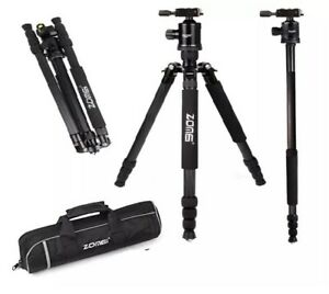 ZOMEi Z818C Carbon Fibre Camera Professional Metallic Black Tripod & Monopod