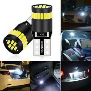 T10 CAR BULBS LED ERROR FREE CANBUS XENON WHITE W5W 501 SIDE LIGHT BULB 12V 2X