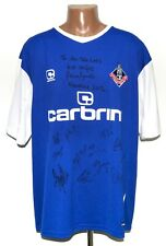 OLDHAM ATHLETIC SIGNED 2010/2012 HOME FOOTBALL SHIRT JERSEY CARBRINI XXL
