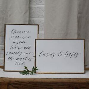 1 x Brass Photo Frame A4 - Landscape - Home, Gift, Wedding Signage