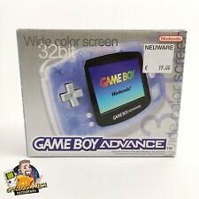Nintendo Gameboy Advance Konsole Transparent Blau | Game Boy Console GBA | OVP
