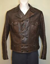 Original rare German Horsehide Jacket Flight Leather Coat Motorcycle Oldtimer