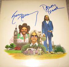 AMERICA SIGNED X2 HISTORY GREATEST HITS VINYL LP GERRY BECKLEY DEWEY BUNNELL