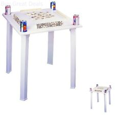 Game Tables BC Classics Plastic Domino & Game Table With Tile Racks & Drink