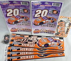 Retired NASCAR Tony Stewart #20 Stickers Magnets Keyring Dogtag