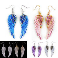 Lovely Angel Wing 5.5cm Long Use Austria Crystal Dangle Earrings - 7 Colors