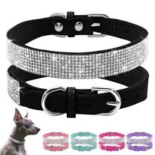 Crystal Diamante Pet Cat Dog Collars Fancy Bling Rhinestone Dog Necklace.AU