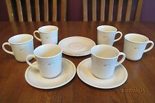 Six Corning Corelle Mug & Saucer Sets ~ Calico Rose ~ Excellent ~ Pink Green